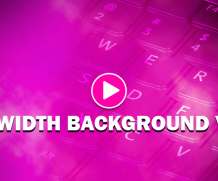 Full width responsive background video