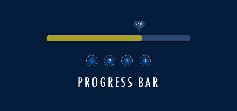 Progress bar with CSS3
