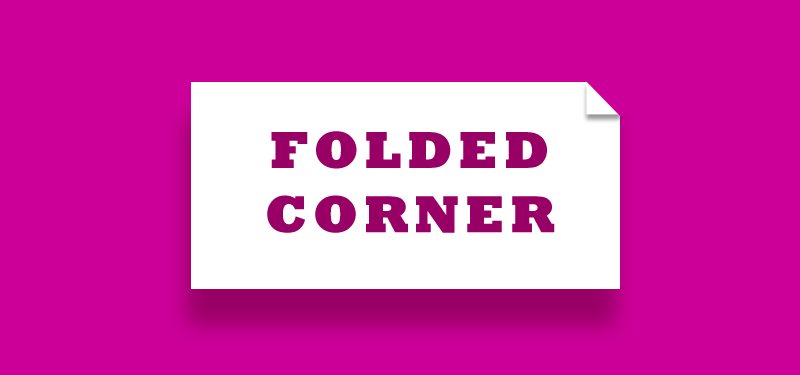 Folded Corner with CSS3