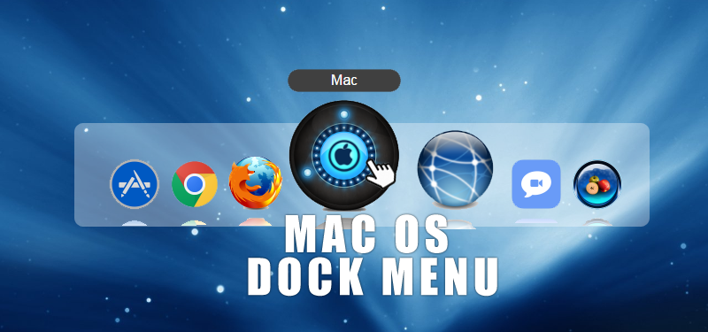 Mac OS Dock Menu with CSS3