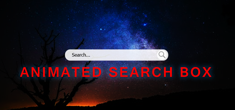 Animated Search Box with css