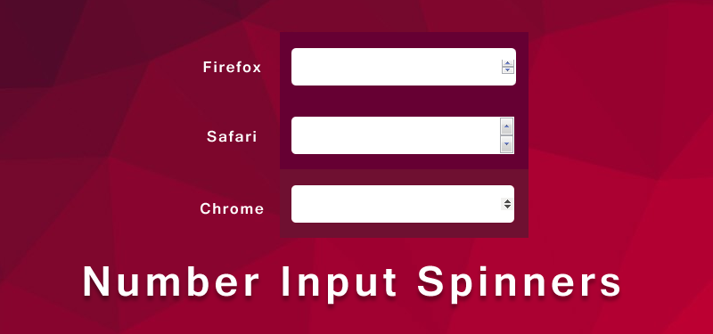Remove Spinners for number input field
