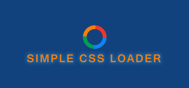 CSS Loader with very simple HTML and few lines of CSS